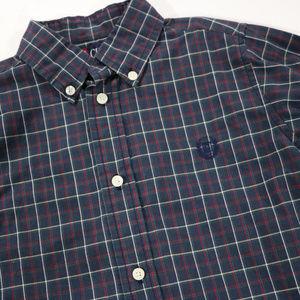 Chaps Shirts & Tops - Chaps Blue Plaid Long Sleeve Dress Shirt 7 in Boys
